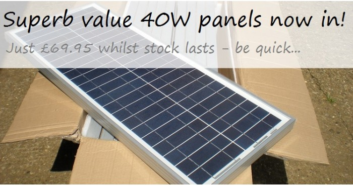 40W Solar Panels